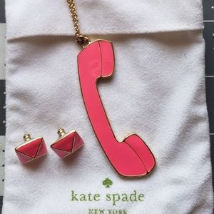 Kate Spade telephone necklace
